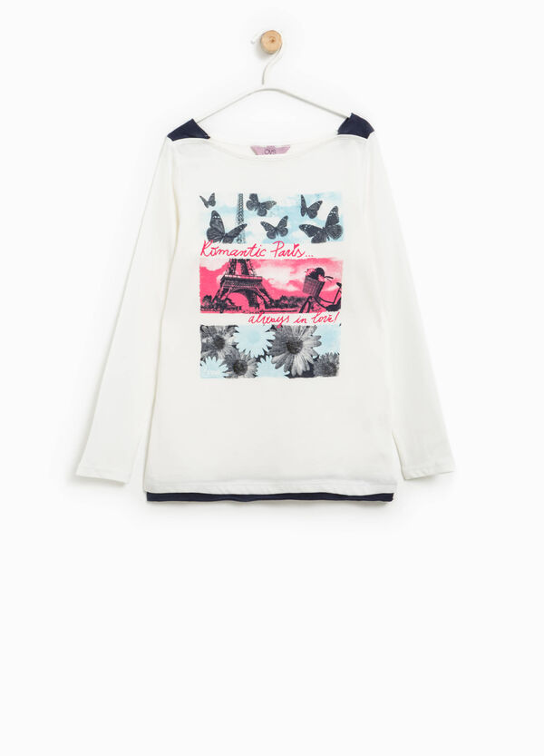 T-shirt with contrasting inserts | OVS