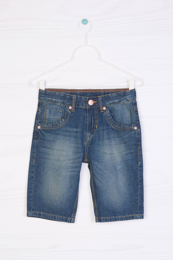 Worn-effect denim Bermuda shorts   OVS