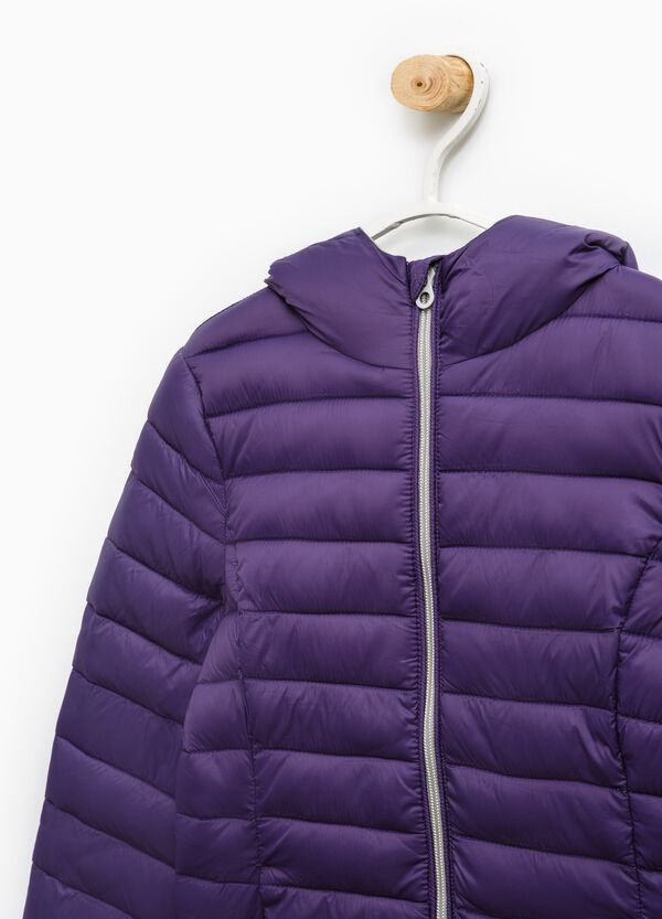 Solid colour lightweight down jacket. | OVS