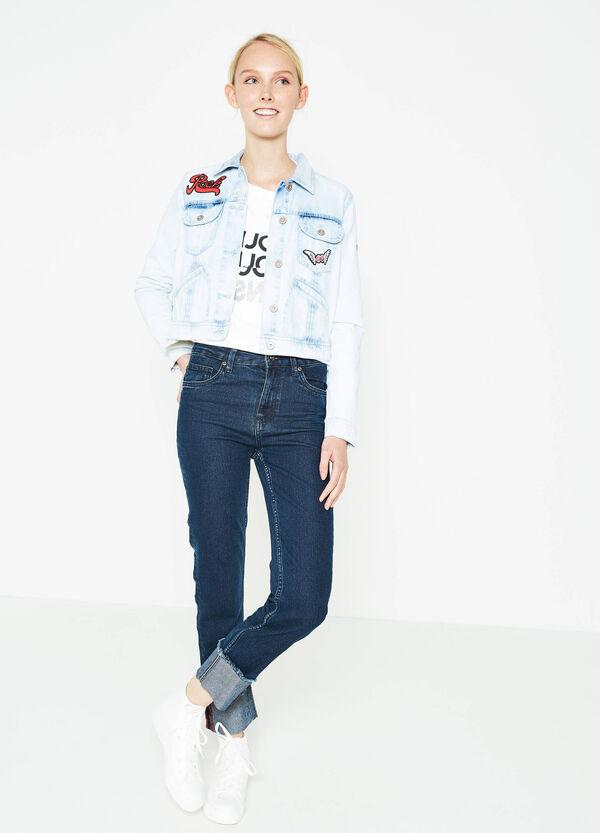 Jeans crop slim fit con orlo sfrangiato | OVS