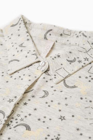 Patterned cotton blend pyjamas, White, hi-res