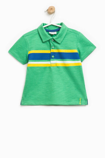 Printed polo shirt in 100% cotton