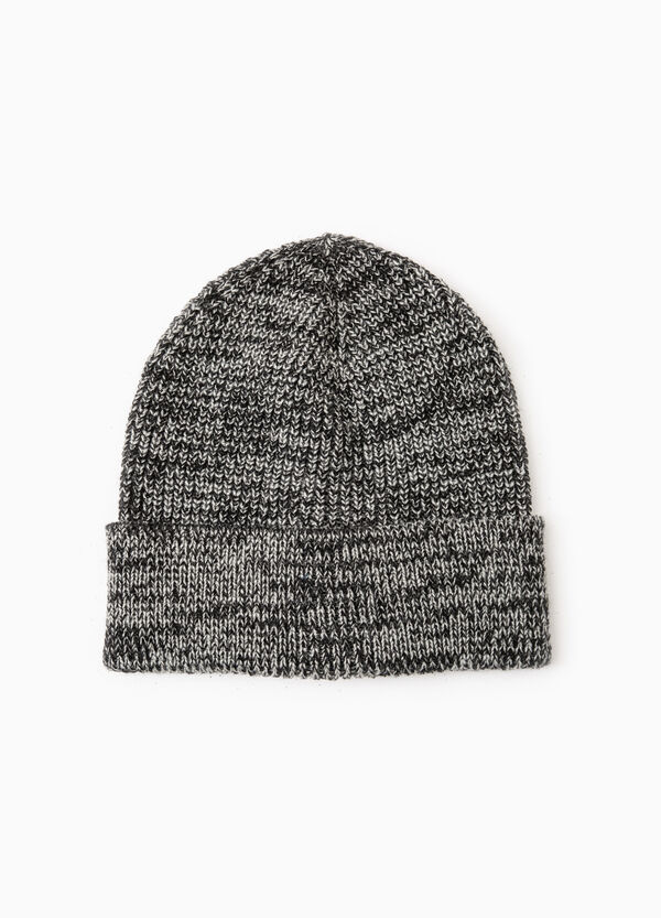 Two-tone patterned beanie cap | OVS