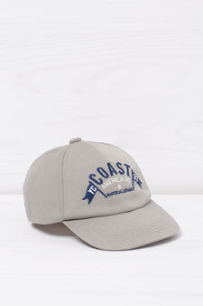 Cotton baseball cap., Grey, hi-res