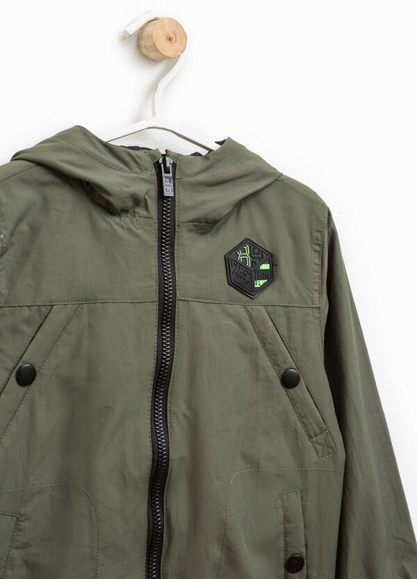 Jacket with contrasting colour ribbing | OVS