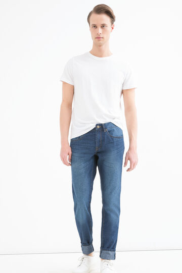 Slim-fit, worn-effect jeans with five pockets