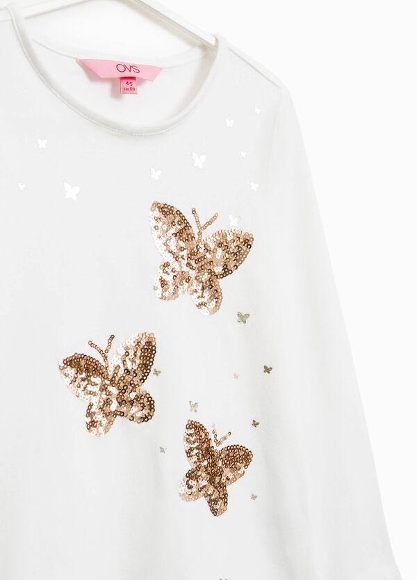 Camiseta con lentejuelas de mariposa | OVS