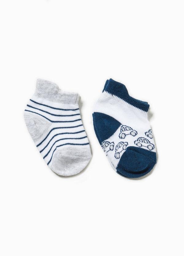 Set due paia di calze righe e ricami | OVS