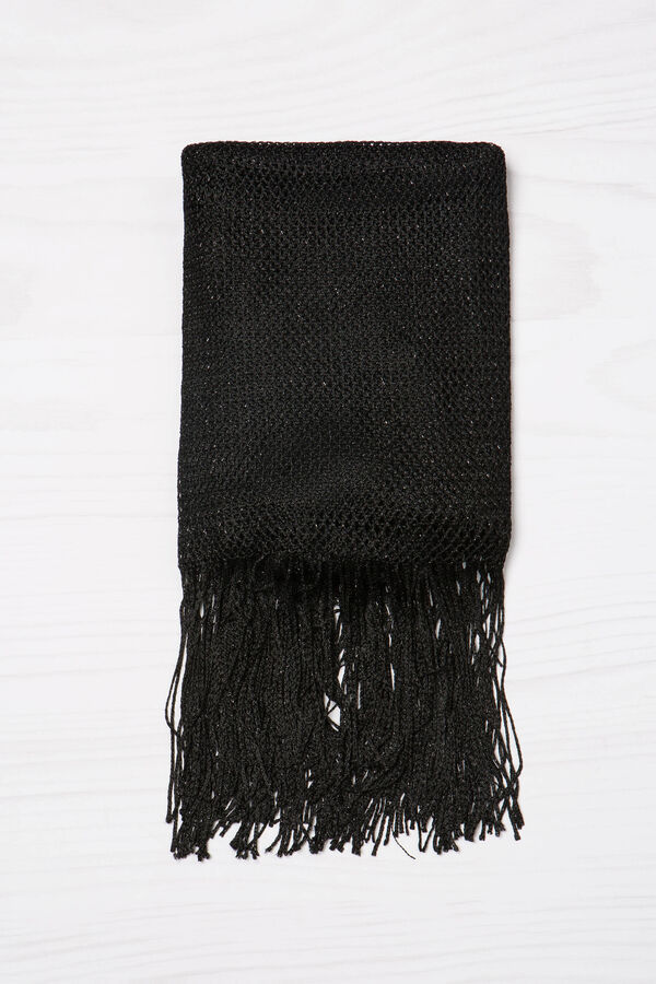 Viscose scarf with lurex fringing | OVS