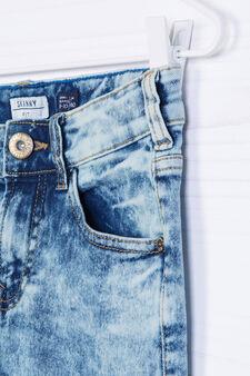 Jeans skinny fit stretch maltinti, Blu, hi-res