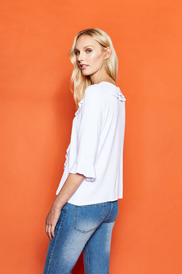 Viscose T-shirt with flounce