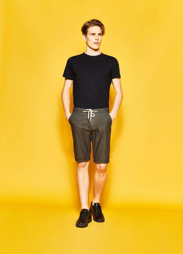 Chino Bermuda shorts with drawstring | OVS