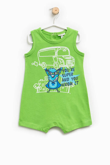 Sleeveless printed sleepsuit