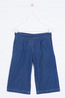 Wide jeans with pockets, Denim Blue, hi-res