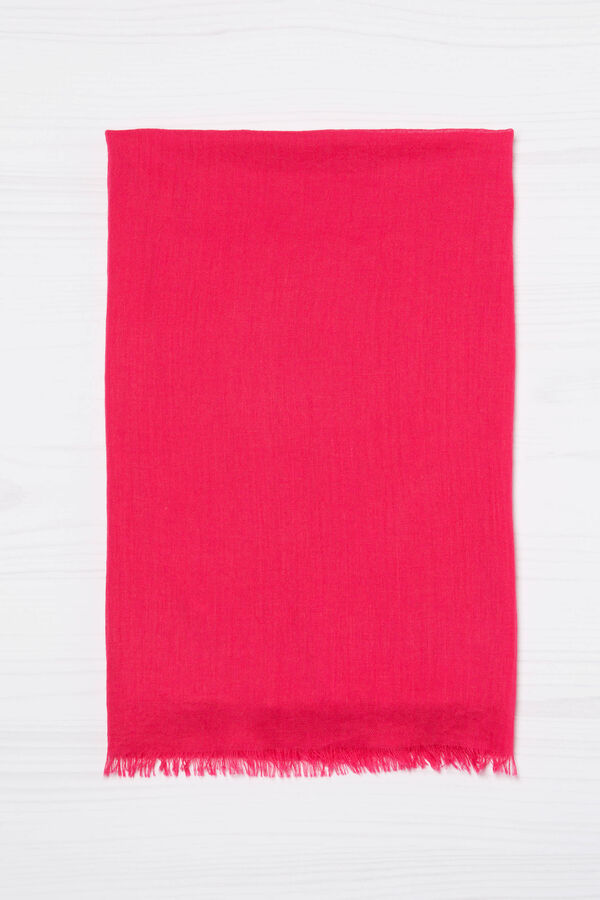 Solid colour fringed scarf | OVS