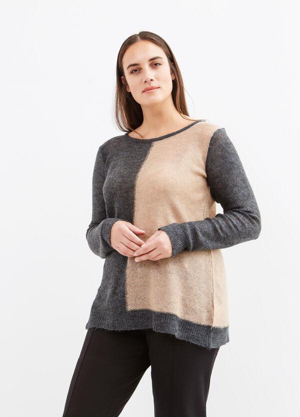 Pullover bicolore scollo barchetta Curvy | OVS