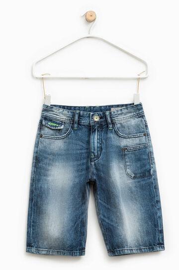 Denim Bermuda shorts with pockets