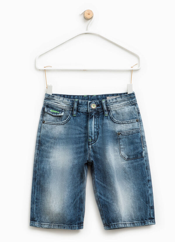 Denim Bermuda shorts with pockets | OVS