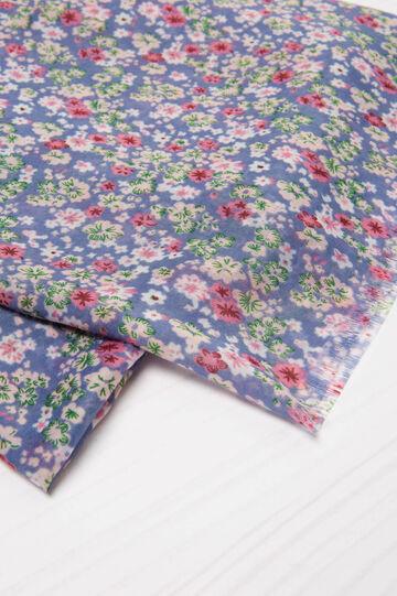 Floral pattern scarf, Multicolour, hi-res