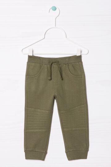 Pantaloni tuta puro cotone, Verde, hi-res