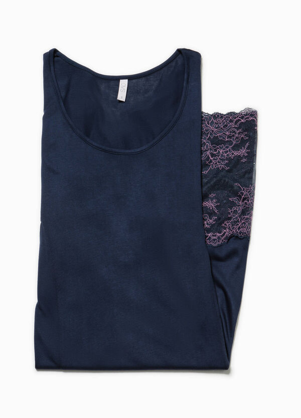 Nightshirt with lace hem   OVS