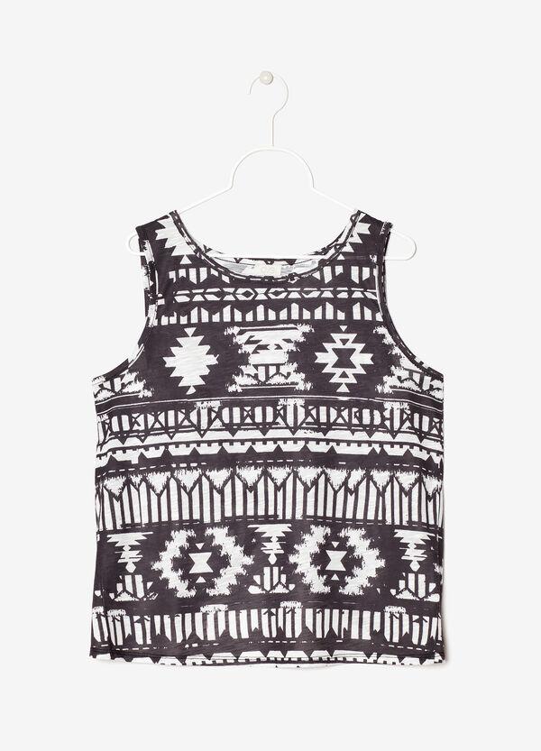 Sleeveless criss-cross T-shirt | OVS