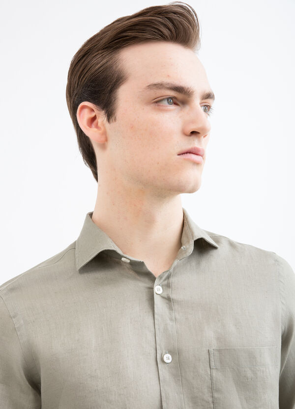 Rumford solid colour linen shirt | OVS