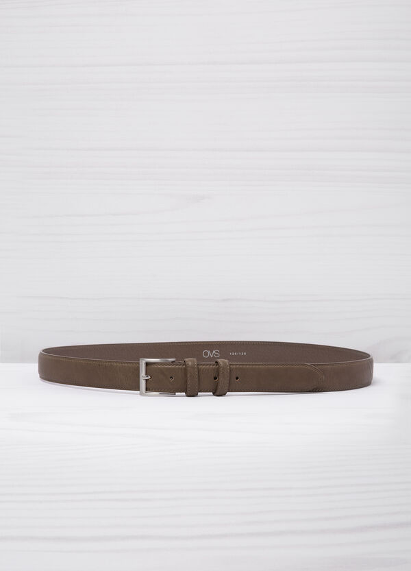 Leather look belt with shiny buckle. | OVS