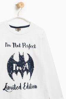 Pigiama cotone fantasia Batman, Bianco/Nero, hi-res