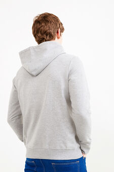 Cotton blend hoodie with Peanuts print, Light Grey, hi-res