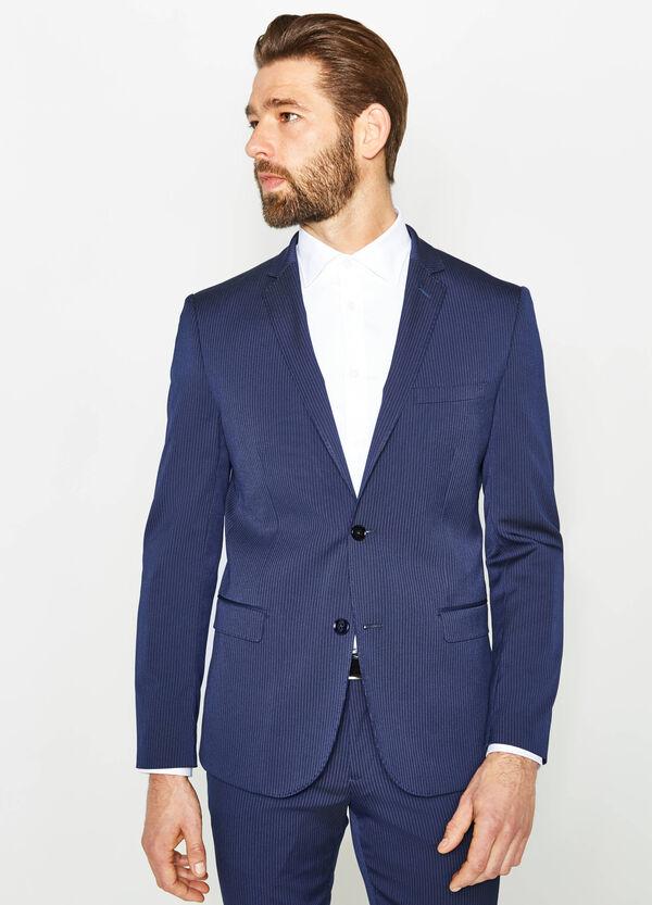 Slim-fit striped suit in stretch viscose | OVS