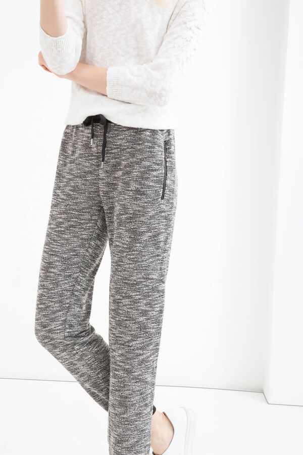 Cotton blend joggers with drawstring | OVS