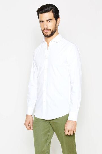 Camicia Rumford slim fit tinta unita, Bianco, hi-res