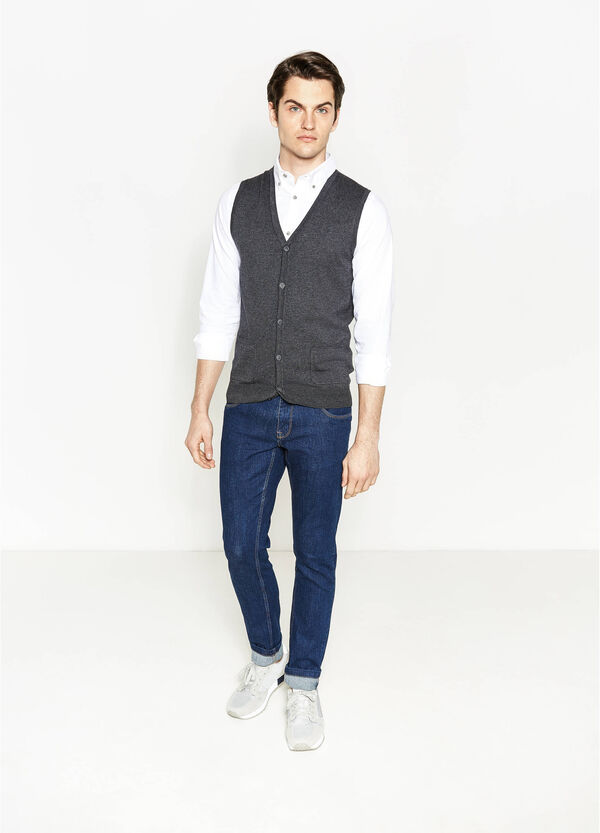 100% cotton gilet with pockets | OVS