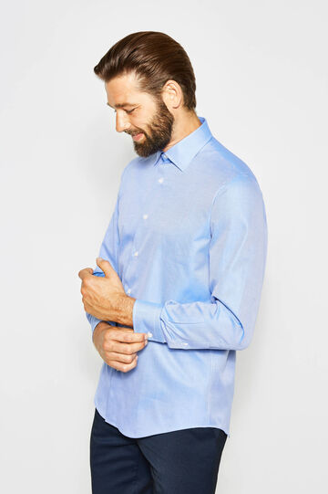 Regular-fit formal shirt with adjustable cuffs