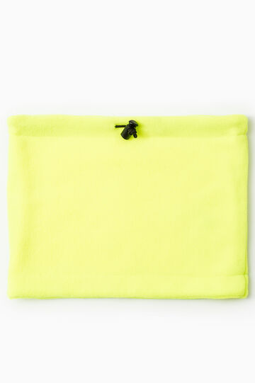 Solid colour drawstring neck warmer, Lime Green, hi-res