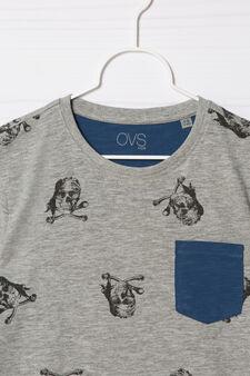 100% cotton T-shirt with pocket, Grey Marl, hi-res