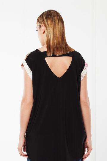 T-shirt Curvy con apertura sulla schiena, Multicolor, hi-res