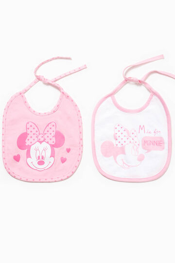 Two-pack bibs with Minnie Mouse print