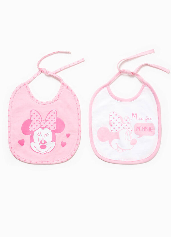 Two-pack bibs with Minnie Mouse print | OVS