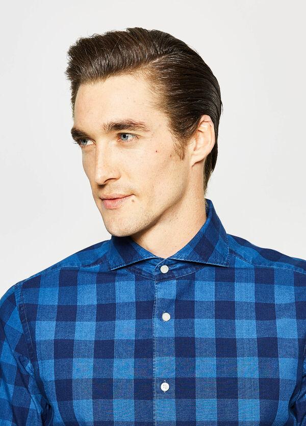 Slim-fit check Rumford shirt | OVS