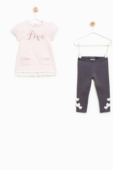Cotton lurex blend outfit, Grey/Pink, hi-res