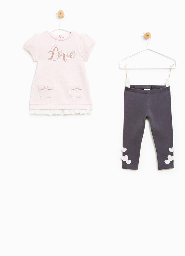 Cotton lurex blend outfit | OVS