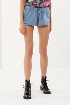 Cotton shorts, Denim Blue, hi-res