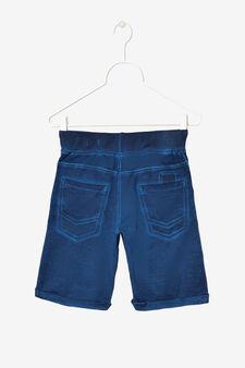 Pantaloni corti cinque tasche, Blu, hi-res