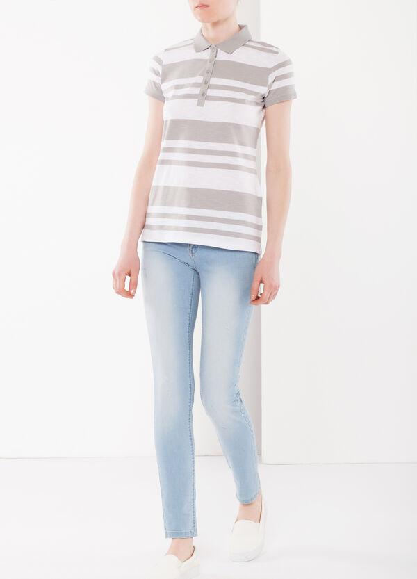 Stripe print polo shirt | OVS