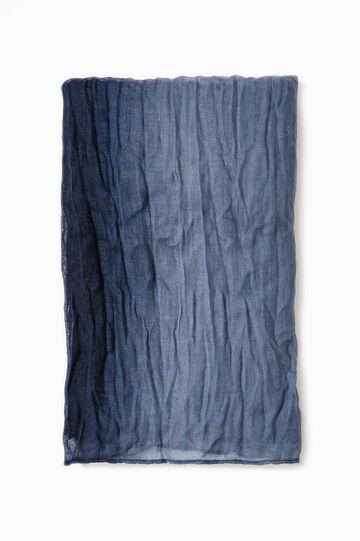 Degradé creased-effect scarf, Navy Blue, hi-res