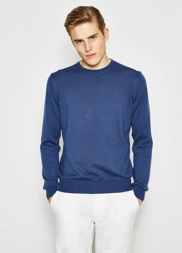Pullover in puro cotone girocollo | OVS