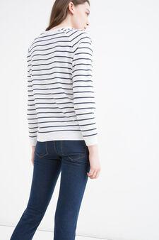 Sweatshirt with Snoopy print, White, hi-res