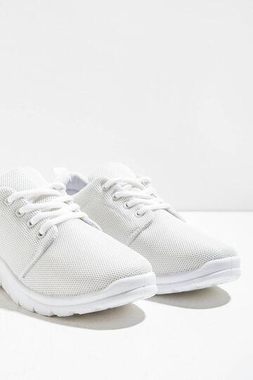 Sneakers with openwork upper